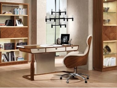 Wooden secretary desk with drawers DESYO | Secretary desk