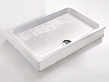 Anti-slip rectangular ceramic shower tray DEVON