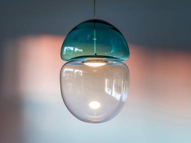 Lampada a sospensione in vetro soffiato DEW + DROP | Lampada a sospensione