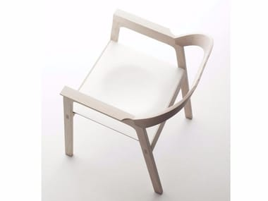 Ash chair with armrests DIADE
