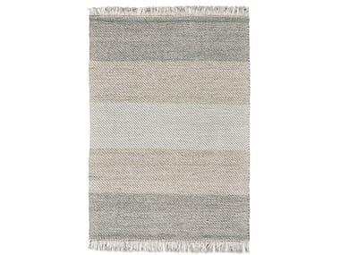 Rectangular striped wool rug DIAGO