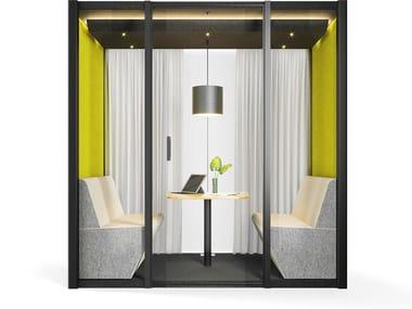 Bürokabine mit integrierter Beleuchtung für Kaffeepausen DIALOGUE CUBE