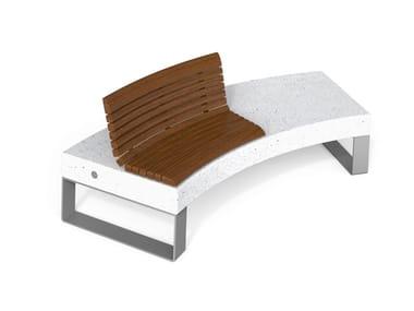 Panchina curva in HPC con schienale DIAMANTE ACCESSORIES W   Panchina con schienale