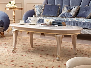 Lacquered oval coffee table DIAMANTE   Coffee table
