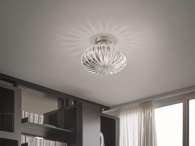 Glass ceiling light DIAMANTE PL
