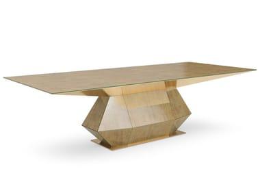 Tavolo rettangolare in vetro DIAMANTE | Tavolo