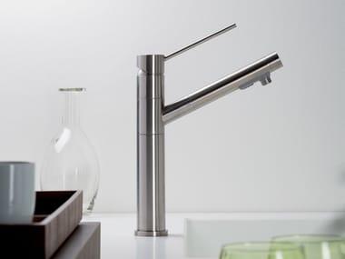 Single handle stainless steel kitchen mixer tap DIAMETRO35 INOX | Kitchen mixer tap
