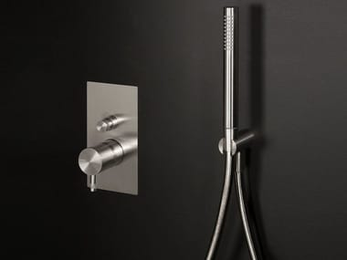 Stainless steel shower mixer with diverter DIAMETRO35 INOX | Shower mixer with diverter