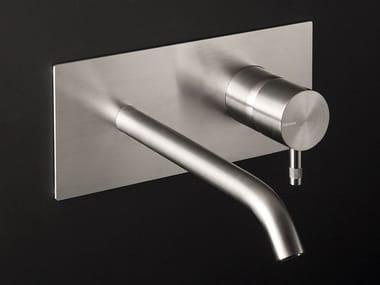 Miscelatore per lavabo a muro in acciaio inox DIAMETRO35 INOX   Miscelatore per lavabo a muro