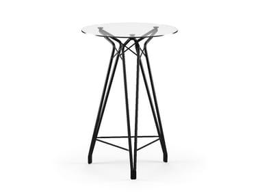 Round glass high table DIAMOND BAR   Glass table