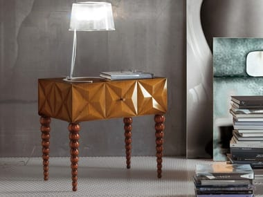 Wooden bedside table with drawers DIAMOND | Bedside table