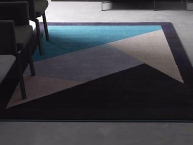 Contemporary style handmade rectangular synthetic fibre rug DIAMOND