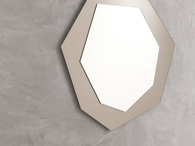 Wall-mounted mirror with integrated lighting DIAMOND