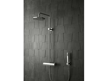 Wall-mounted shower panel with overhead shower DIAMOND | Shower panel