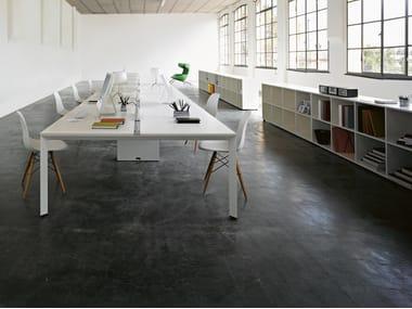 Sectional rectangular workstation desk DIAMOND OPERATIVE