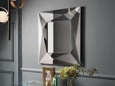 Espelho moldurado de parede DIAMOND | Espelho quadrado