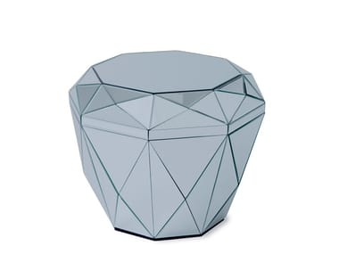 Square mirrored glass coffee table for living room DIAMOND TABLE