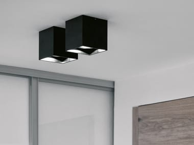 LED ceiling square spotlight DICE ON