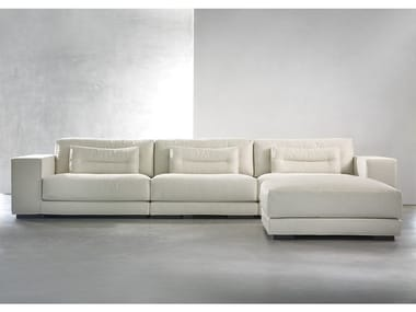 Contemporary style 3 seater sectional fabric sofa with chaise longue DIEKE LIVING   Sofa with chaise longue