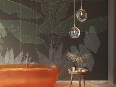 Papel de parede tropical de tecido não tecido DIGITAL JUNGLE