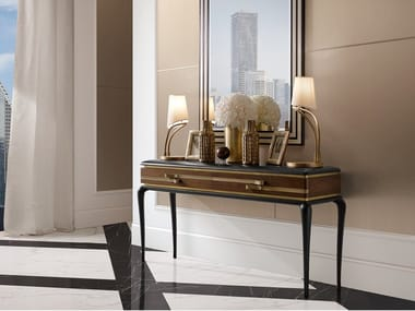 Rectangular console table with drawers DILAN | Console table