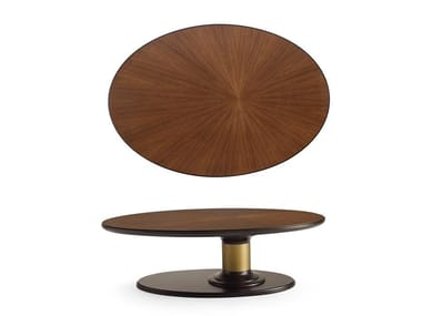 Oval wooden coffee table DILAN | Oval coffee table