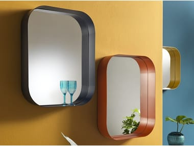 Rectangular wall-mounted mirror DILETTA