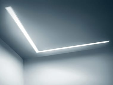 Extruded aluminium Linear lighting profile for LED modules DINAMICA | Linear lighting profile