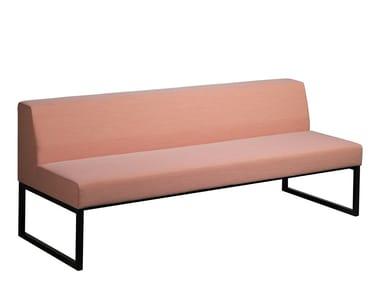 Sled base fabric sofa DINER   Sled base sofa