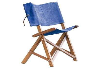 Sedia pieghevole in legno massello con braccioli DINO 2.0