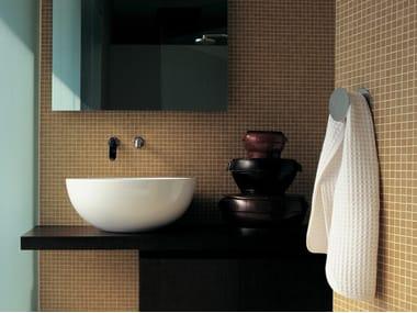 Countertop round ceramic washbasin DIP | Countertop washbasin