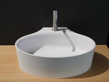 Cristalplant® washbasin DIP TOO | Countertop washbasin