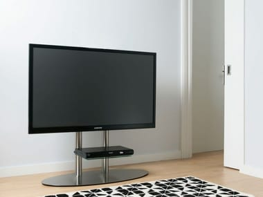 Stainless steel TV cabinet / stand DISCO 09 BI