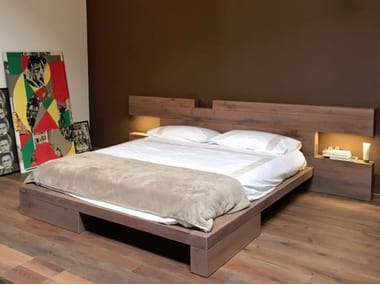 Wooden double bed DISEGNODILEGNO | Bed
