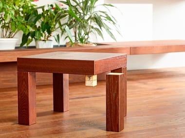 Square wooden coffee table DISEGNODILEGNO | Coffee table