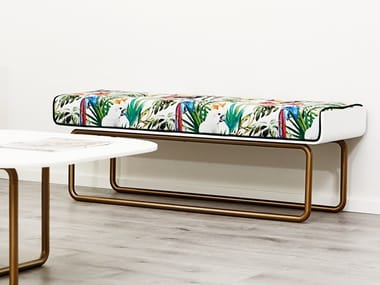 Upholstered fabric bench DISTINCT | Bench
