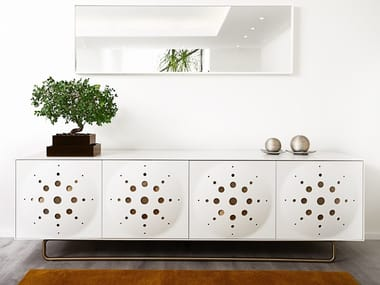 Lacquered sideboard with doors DISTINCT | Sideboard