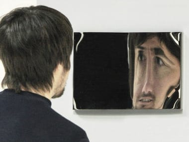 Wall-mounted rectangular mirror DISTORTING MIRROR | Mirror