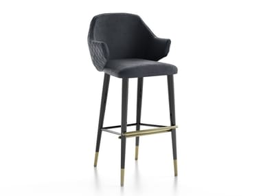 High stool with back DIVA | High stool