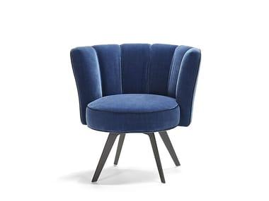 Upholstered velvet easy chair DIVA   Velvet easy chair