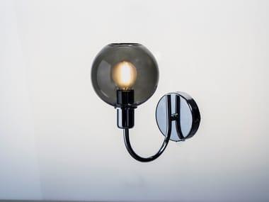 Lampada da parete a LED in vetro borosilicato DIVA | Lampada da parete