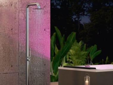 Doccia esterna in acciaio inox con doccetta con soffione DIVINA OUTDOOR SPA | Colonna SPA