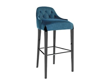Fabric barstool with footrest DIXON | Barstool