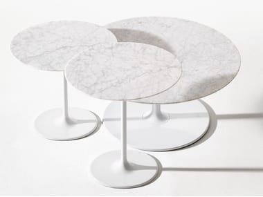 Round Marble Coffee Table DIZZIE | Marble Coffee Table