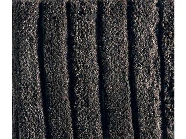 Contemporary style striped rectangular wool rug DJURDJURA