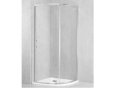 Box doccia semicircolare con porta scorrevole DM-AR55