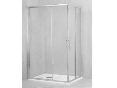 Box doccia angolare con porta scorrevole DM-ASC + DM-ASC