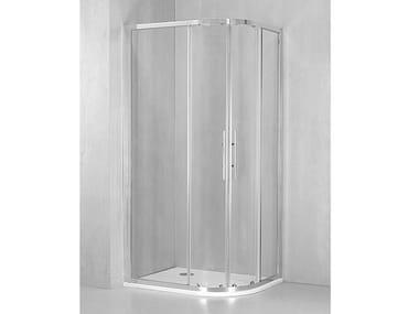 Box doccia angolare semicircolare con porta scorrevole DM-GI38