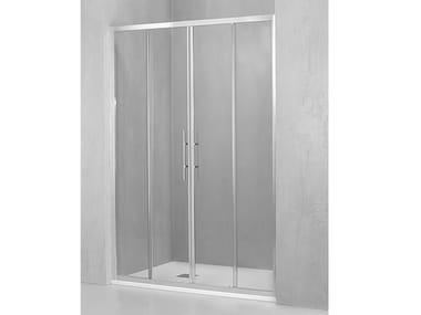 Box doccia a nicchia con porta scorrevole DM-PSC2