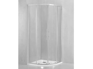 Box doccia angolare semicircolare con porta scorrevole DM-T38